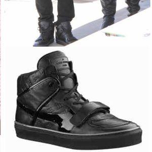 Louis Vuitton Black Leather Men's Tower Sneakers